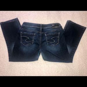 Silver Jeans Co. AIKO KICK FLARE - (W29) Crop